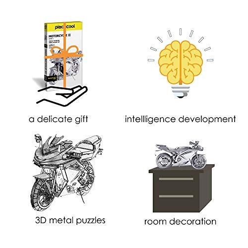 Piececool Puzzle In Metallo 3d Per Adulti Motorcycle Ii Modellino In Metallo Per Adulti 0 3