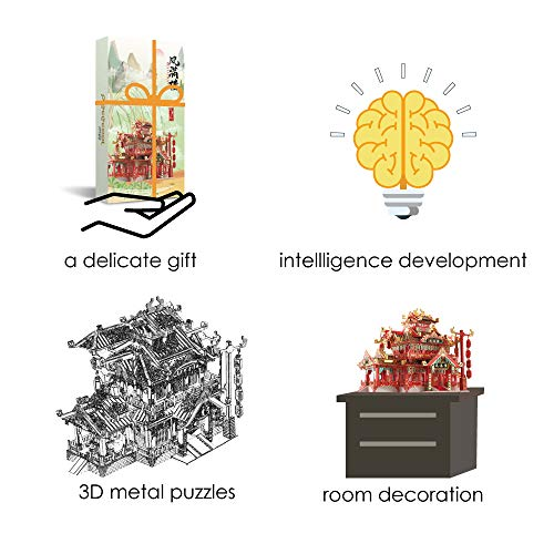 Piececool Puzzle In Metallo 3d Per Adulti Ristorante In Metallo Per Adulti 0 3