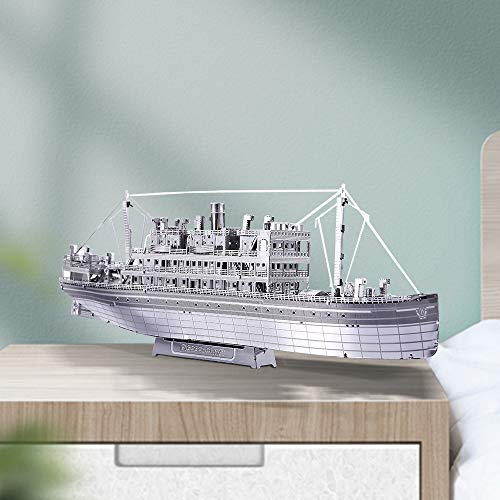 Piececool The Crossing Ship Puzzle In Metallo 3d Per Adulti Modello In Metallo Per Adulti 0 2