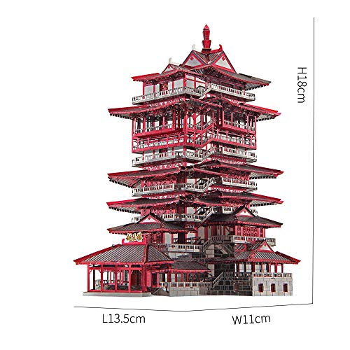 Piececool Yuewang Tower Puzzle In Metallo 3d Per Adulti 0 2