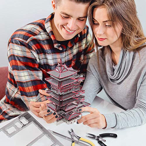 Piececool Yuewang Tower Puzzle In Metallo 3d Per Adulti 0 4