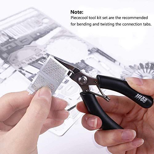 Pucecool 3d Laser Cut Diy Modello Architecturale Di Fama Mondiale Tradizionale In Metallo Puzzle Per Adulti Torre Eiffel 43 Pz Argento 0 3