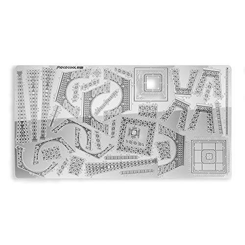 Pucecool 3d Laser Cut Diy Modello Architecturale Di Fama Mondiale Tradizionale In Metallo Puzzle Per Adulti Torre Eiffel 43 Pz Argento 0 4