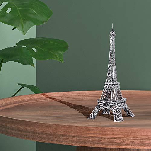 Pucecool 3d Laser Cut Diy Modello Architecturale Di Fama Mondiale Tradizionale In Metallo Puzzle Per Adulti Torre Eiffel 43 Pz Argento 0 5