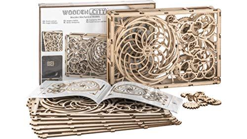 Puzzle 3d Meccanico Kinetic Picture By Woodencity Modellino Di Progetti Per Adulti E Bambini 3d Modello Tecnico In Legno 0