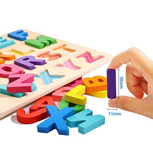 Puzzle Alfabeto 2 Pezzi Giocattolo Educativo In Legno Blocchi Alfabeto In Legno Abc Puzzle Lettere Numero Montessori Educativo Giocattolo Giochi Per Lapprendimento Precoce Per Bambini 2 3 4 Anni 0 0