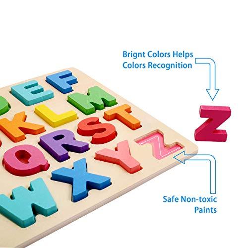 Puzzle Alfabeto 2 Pezzi Giocattolo Educativo In Legno Blocchi Alfabeto In Legno Abc Puzzle Lettere Numero Montessori Educativo Giocattolo Giochi Per Lapprendimento Precoce Per Bambini 2 3 4 Anni 0 1