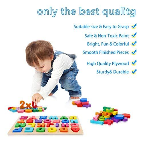 Puzzle Alfabeto 2 Pezzi Giocattolo Educativo In Legno Blocchi Alfabeto In Legno Abc Puzzle Lettere Numero Montessori Educativo Giocattolo Giochi Per Lapprendimento Precoce Per Bambini 2 3 4 Anni 0 3