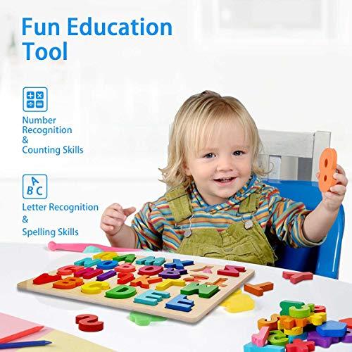 Puzzle Alfabeto 2 Pezzi Giocattolo Educativo In Legno Blocchi Alfabeto In Legno Abc Puzzle Lettere Numero Montessori Educativo Giocattolo Giochi Per Lapprendimento Precoce Per Bambini 2 3 4 Anni 0 4