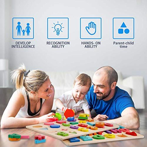 Puzzle Alfabeto 2 Pezzi Giocattolo Educativo In Legno Blocchi Alfabeto In Legno Abc Puzzle Lettere Numero Montessori Educativo Giocattolo Giochi Per Lapprendimento Precoce Per Bambini 2 3 4 Anni 0 5