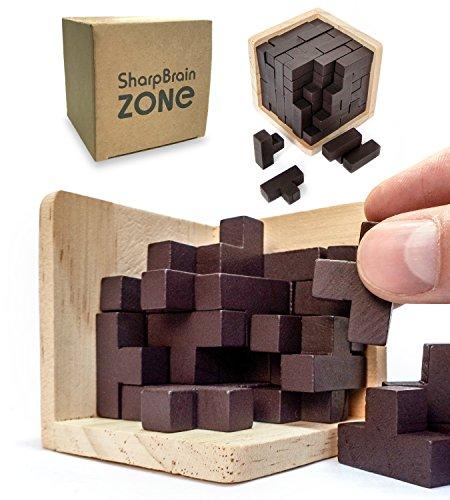 Puzzle Rompicapo 3d In Legno Di Sharp Brain Zone Gioco Istruttivo Per Bambini E Adulti Esplora La Creativita E Le Capacita Di Risoluzione Dei Problemi Original 0 0