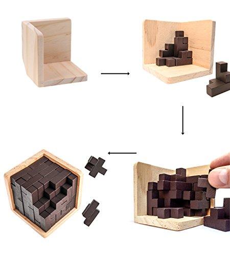 Puzzle Rompicapo 3d In Legno Di Sharp Brain Zone Gioco Istruttivo Per Bambini E Adulti Esplora La Creativita E Le Capacita Di Risoluzione Dei Problemi Original 0 1
