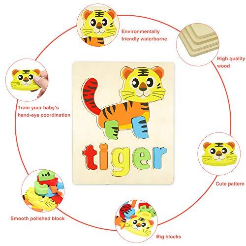 Puzzle In Legno Per Bambini 3d Giocattoli Prescolare Educativo Giochi Set Blocchi Giocattoli Montessori Regalo Per 1 Anno 2 3 4 Anni Ragazza Ragazzo 4 Pezzi Animali 0 0