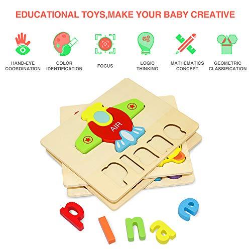 Puzzle In Legno Per Bambini 3d Giocattoli Prescolare Educativo Giochi Set Blocchi Giocattoli Montessori Regalo Per 1 Anno 2 3 4 Anni Ragazza Ragazzo 4 Pezzi Animali 0 1