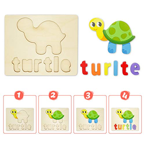 Puzzle In Legno Per Bambini 3d Giocattoli Prescolare Educativo Giochi Set Blocchi Giocattoli Montessori Regalo Per 1 Anno 2 3 4 Anni Ragazza Ragazzo 4 Pezzi Animali 0 2