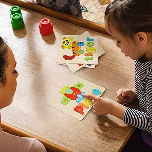 Puzzle In Legno Per Bambini 3d Giocattoli Prescolare Educativo Giochi Set Blocchi Giocattoli Montessori Regalo Per 1 Anno 2 3 4 Anni Ragazza Ragazzo 4 Pezzi Animali 0 4