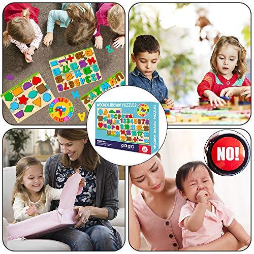 Puzzle In Legno Per Bambini 4 In 1 Alfabeto Numero Forma Orologio Giocattoli Da Puzzle Educativo Giocattoli Per Apprendimento Prescolare Regalo Di Compleanno Per Bambini Di 3 5 Anni 0 5