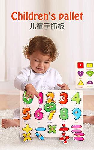 Puzzle In Legno Per Bambininumeri Educativi Puzzle 0 9 Puzzle Con Piolo Gioco Da Tavolo Per Lapprendimento Della Matematica Blocco Impilabile Per Ragazzi E Ragazze 0 0