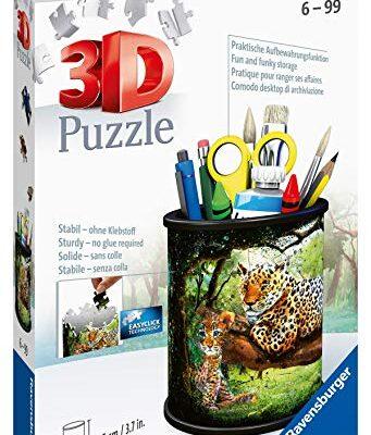 Ravensburger Puzzle Raubkatzen 3d 11263 Utensilo Gatti Predatori 54 Pezzi Dai 6 Anni In Su Colore Bianco 0 0