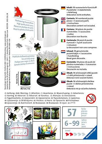 Ravensburger Puzzle Raubkatzen 3d 11263 Utensilo Gatti Predatori 54 Pezzi Dai 6 Anni In Su Colore Bianco 0 1