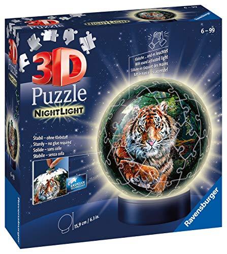 Ravensburger Puzzle Raubkatzen Nachtlicht 3d 11248 Luce Notturna Gatti Predatori 72 Pezzi Dai 6 Anni In Su Multicolore 0 0
