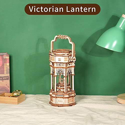 Robotime 3d Puzzle Lanterna In Legno Vintage Carillon Con Luce A Led Puzzle Meccanico Kit Di Costruzione Di Modelli In Legno Per Adolescenti E Adulti 0 0