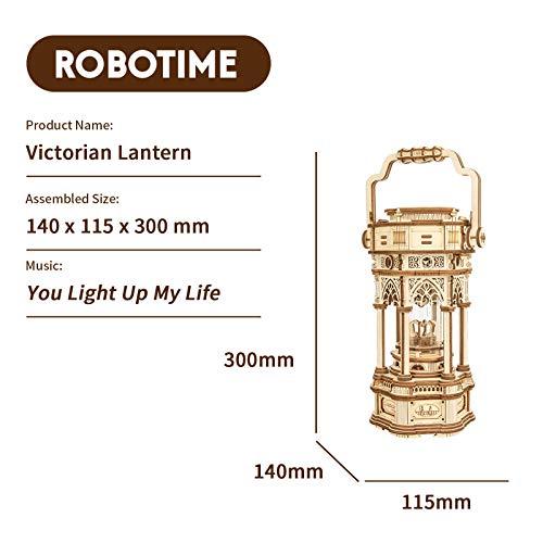 Robotime 3d Puzzle Lanterna In Legno Vintage Carillon Con Luce A Led Puzzle Meccanico Kit Di Costruzione Di Modelli In Legno Per Adolescenti E Adulti 0 3