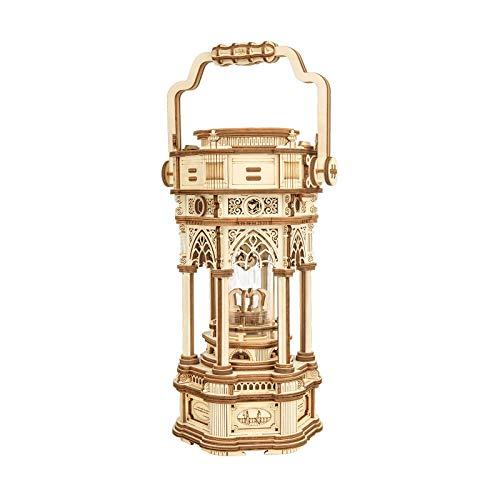 Robotime 3d Puzzle Lanterna In Legno Vintage Carillon Con Luce A Led Puzzle Meccanico Kit Di Costruzione Di Modelli In Legno Per Adolescenti E Adulti 0