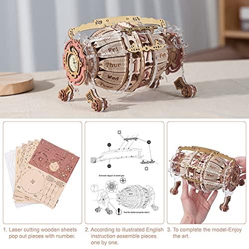 Robotime Calendario 3d Puzzle In Legno Per Adulti Modello Kit Taglio Laser Jigsaw Artigianato Di Costruzione Meccanica Regalo Da Costruire 0 1