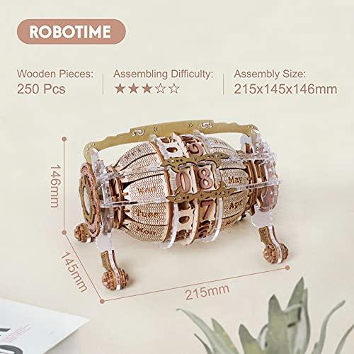 Robotime Calendario 3d Puzzle In Legno Per Adulti Modello Kit Taglio Laser Jigsaw Artigianato Di Costruzione Meccanica Regalo Da Costruire 0 3
