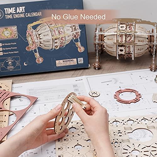 Robotime Calendario 3d Puzzle In Legno Per Adulti Modello Kit Taglio Laser Jigsaw Artigianato Di Costruzione Meccanica Regalo Da Costruire 0 4