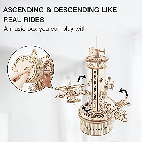 Robotime Carillon Meccanico Puzzle 3d Kit Modello In Legno Torre Di Controllo Dellaria Costruzione Di Puzzle Tagliati Al Laser Mestiere Per Costruire I Tuoi Kit Per Adulti E Adolescenti 0 3