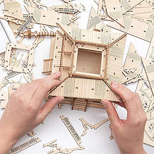 Robotime Fai Da Te Pagoda 3d Puzzle A Cinque Piani Kit Di Artigianato In Legno Costruzione Di Modelli Meccanici Kit Di Puzzle Creativi Miglior Regalo Per Adolescenti E Adulti Da Costruire 0 5