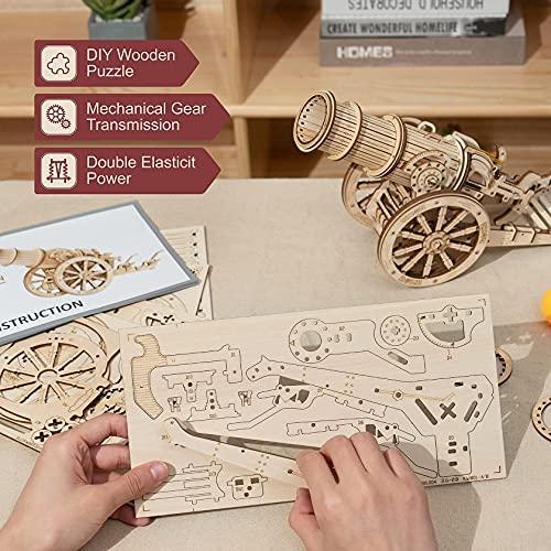 Robotime Puzzle 3d Cannone Medievale Teaser Cervello In Legno Modello Costruzione Puzzle Tagliato Al Laser Costruzione Meccanica Artigianale Per Bambini Adulti 0 2