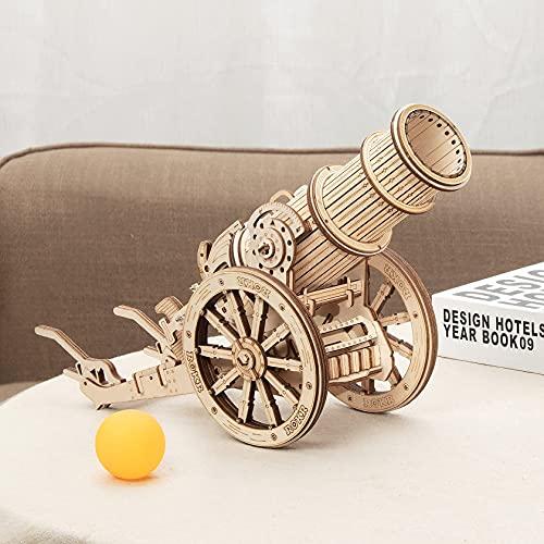 Robotime Puzzle 3d Cannone Medievale Teaser Cervello In Legno Modello Costruzione Puzzle Tagliato Al Laser Costruzione Meccanica Artigianale Per Bambini Adulti 0 3