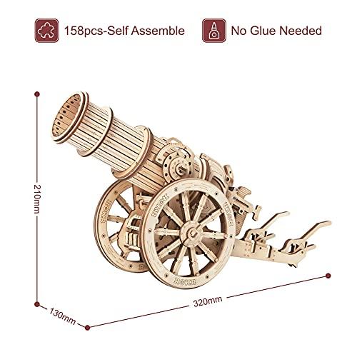 Robotime Puzzle 3d Cannone Medievale Teaser Cervello In Legno Modello Costruzione Puzzle Tagliato Al Laser Costruzione Meccanica Artigianale Per Bambini Adulti 0 4