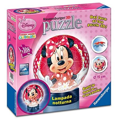 Ravensburger 12234 Minnie Mouse Puzzle 3d Lampada Notturna 0