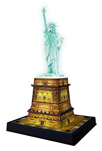 Ravensburger 12596 Puzzle 3d Statua Della Liberta Edizione Speciale Notte Con Led 108 Pezzi Eta Consigliata 8 Puzzle Ravensburger Stampa Di Alta Qualita 0 1