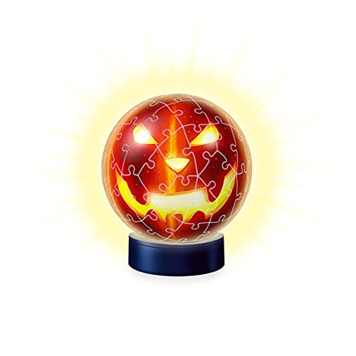 Ravensburger 3d Puzzle Kurbiskopf Nachtlicht 11253 Puzzle Ball 72 Teile Fur Halloween Fans Ab 6 Jahren Erlebe Puzzeln In Der 3 Dimension 0 1
