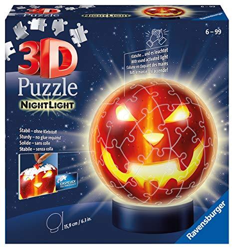 Ravensburger 3d Puzzle Kurbiskopf Nachtlicht 11253 Puzzle Ball 72 Teile Fur Halloween Fans Ab 6 Jahren Erlebe Puzzeln In Der 3 Dimension 0