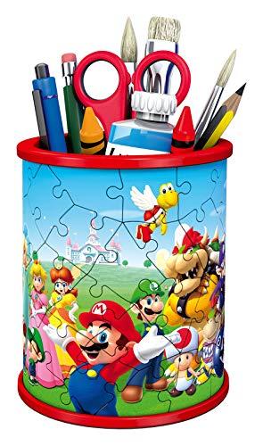 Ravensburger 3d Puzzle Portapenne Di Super Mario Oggetto Di Arredamento Per Scrivania Eta Raccomandata 6 11255 5 0 0