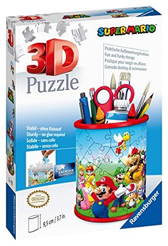 Ravensburger 3d Puzzle Portapenne Di Super Mario Oggetto Di Arredamento Per Scrivania Eta Raccomandata 6 11255 5 0 2