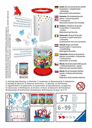 Ravensburger 3d Puzzle Portapenne Di Super Mario Oggetto Di Arredamento Per Scrivania Eta Raccomandata 6 11255 5 0 3