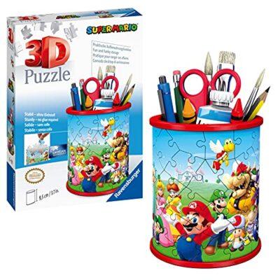 Ravensburger 3d Puzzle Portapenne Di Super Mario Oggetto Di Arredamento Per Scrivania Eta Raccomandata 6 11255 5 0