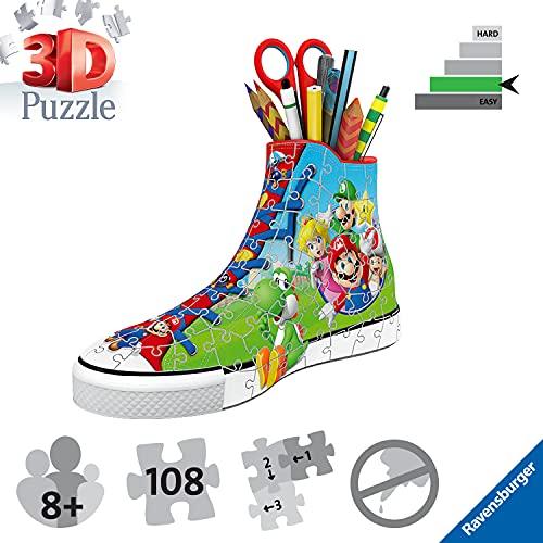 Ravensburger 3d Puzzle Sneaker Di Super Mario Portapenne Di 108 Pezzi Eta Raccomandata 8 11267 8 0 1