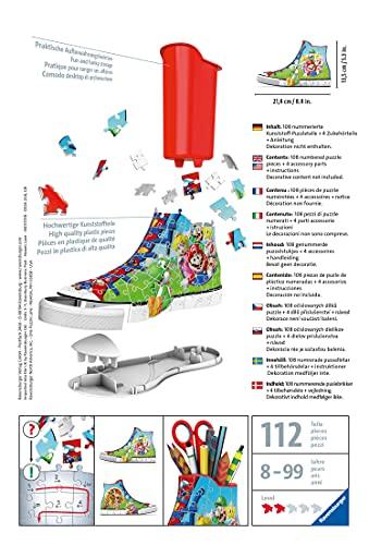 Ravensburger 3d Puzzle Sneaker Di Super Mario Portapenne Di 108 Pezzi Eta Raccomandata 8 11267 8 0 5