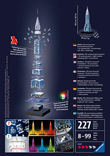 Ravensburger Italy Puzzle 3d Chrysler Building Night Edition 12595 0 0