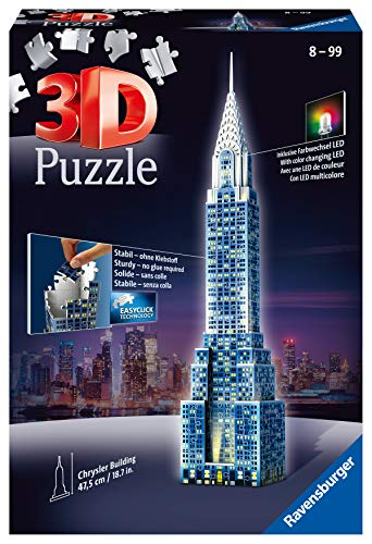 Ravensburger Italy Puzzle 3d Chrysler Building Night Edition 12595 0