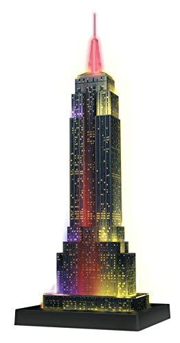 Ravensburger Puzzle 3d Empire State Building Edizione Speciale Notte 216 Pezzi Colore Nero Luce Led 12566 1 Tour Torre Eiffel Puzzle 3d Con Led Edizione Speciale Notte 216 Pezzi Multicolore 0 1