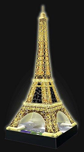 Ravensburger Puzzle 3d Empire State Building Edizione Speciale Notte 216 Pezzi Colore Nero Luce Led 12566 1 Tour Torre Eiffel Puzzle 3d Con Led Edizione Speciale Notte 216 Pezzi Multicolore 0 5